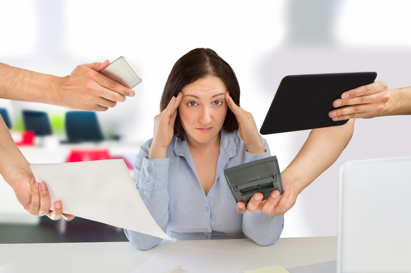 Technology is causing more stress headaches among employees.